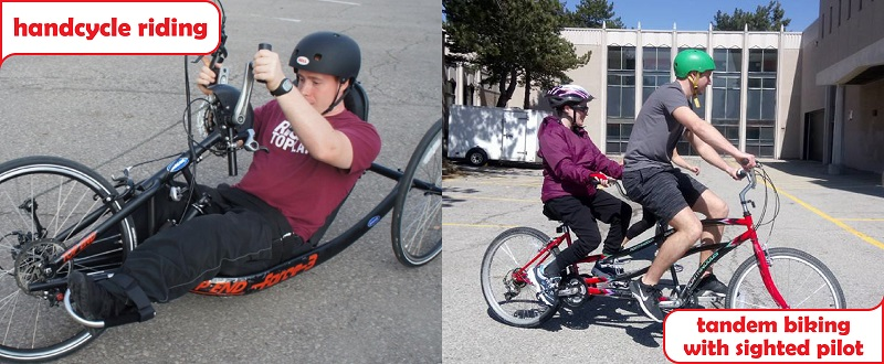 Tandem Handcycling image